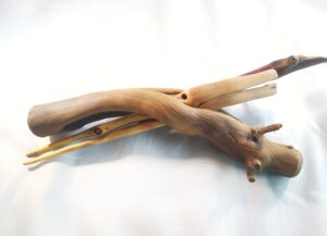 Lilac wood chopsticks 6 with a Lilac wood holder